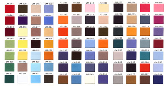 Twill Sample Colors PDF